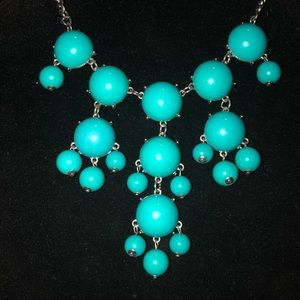 Vintage Bakelite Robin Egg Blue Necklace.